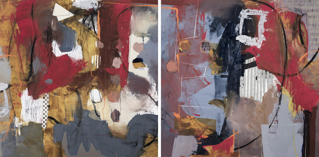 Carnival 4'x8', diptych, Oil/Cwm, Available
