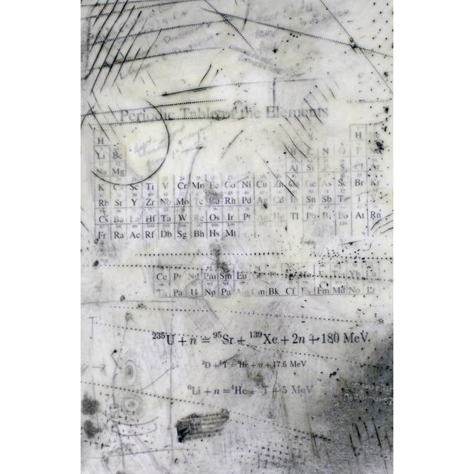Raw Materials, embossment, encaustic, 9.5x6.5in, Disquietude, 2010; Gallery of Visual Arts, University of Montana