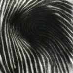 Impingement, monoprint, mezzotint, 1/1, Disquietude, 2010; Gallery of Visual Arts, University of Montana