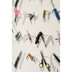 """Detail, """"Homeland Security"""", over 300 TSA confiscated airport knives and scissors, 2010"""