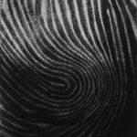Impingement, mezzotint, monoprint, 1/1, Disquietude, 2010; Gallery of Visual Arts, University of Montana
