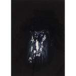 Asleep, photopolymer etching, 7x5in, Disquietude, 2010; Gallery of Visual Arts, University of Montana