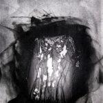 Shadow, photopolymer monoprint, 7x5in, Disquietude, 2010; Gallery of Visual Arts, University of Montana