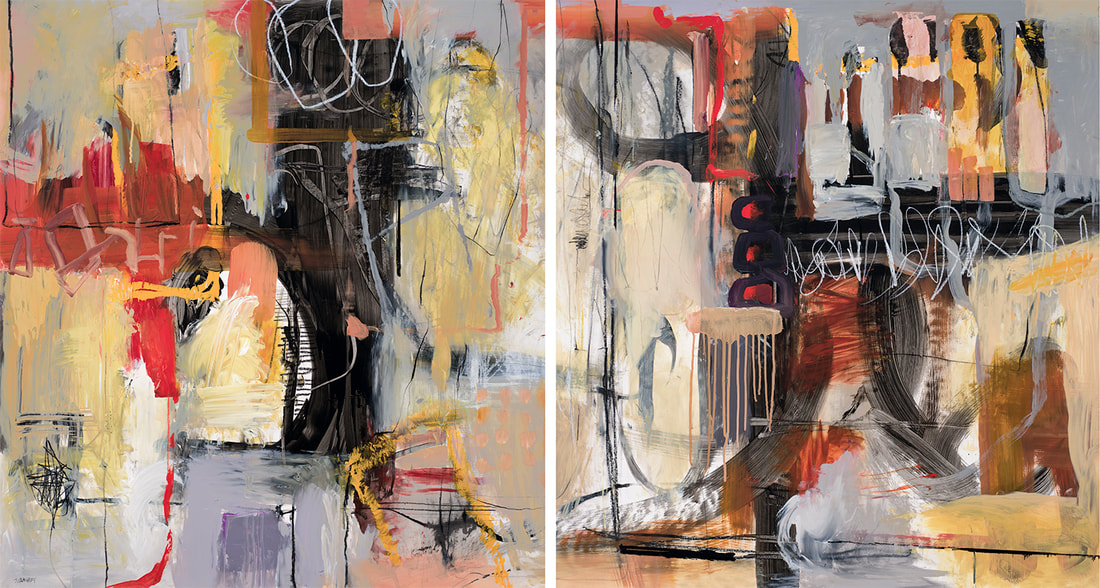 Improvisation, 3.5x7ft, Diptych (Available)